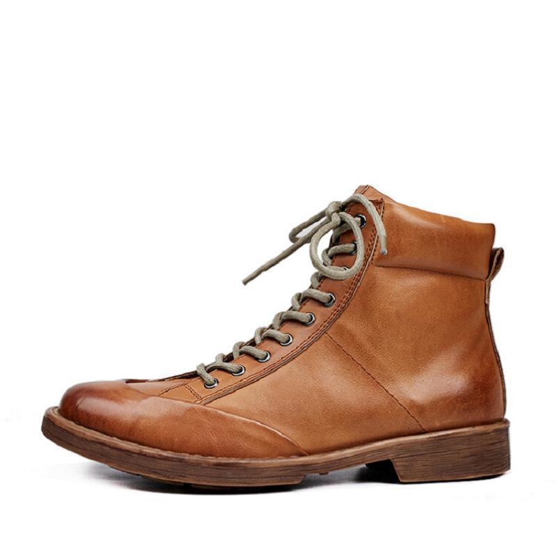 Lacent Chaussure D'hiver Homme Confortable Mycolen Marque Hommes Cuir Bottes De Brun Noir Mode En marron 2018 Cheville Chaussures LVqUpMGSz