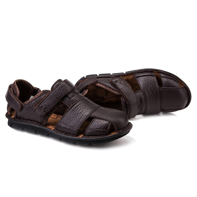 כהיבה אמיתי עור קיץ נעלי גברים סנדלי אופנה נעליים יומיומיות זכר Sandalias חוף נעלי רך תחתון לנשימה גברים Slipp