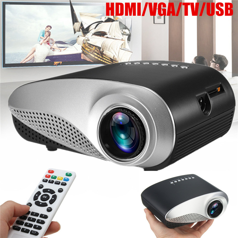 New Mini Home Cinema Mini Portable 1080P 3D HD LED Projector Multimedia Home Theater USB VGA HDMI TV early educational machine for children built in speakers hdmi mini led entertainment projector home cinema theater new arrival