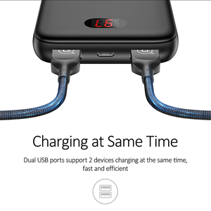 Image 3 - Power Bank Voor Xiaomi Mi Iphone, usams Mini Pover Bank 10000 Mah Led Display Powerbank Externe Batterij Poverbank Snel Opladen