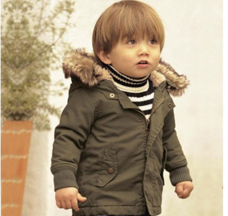 Мальчик Пальто для будущих мам и Куртки дети Искусственный мех Куртка с воротником для маленьких мальчиков детская зимняя верхняя одежда д...