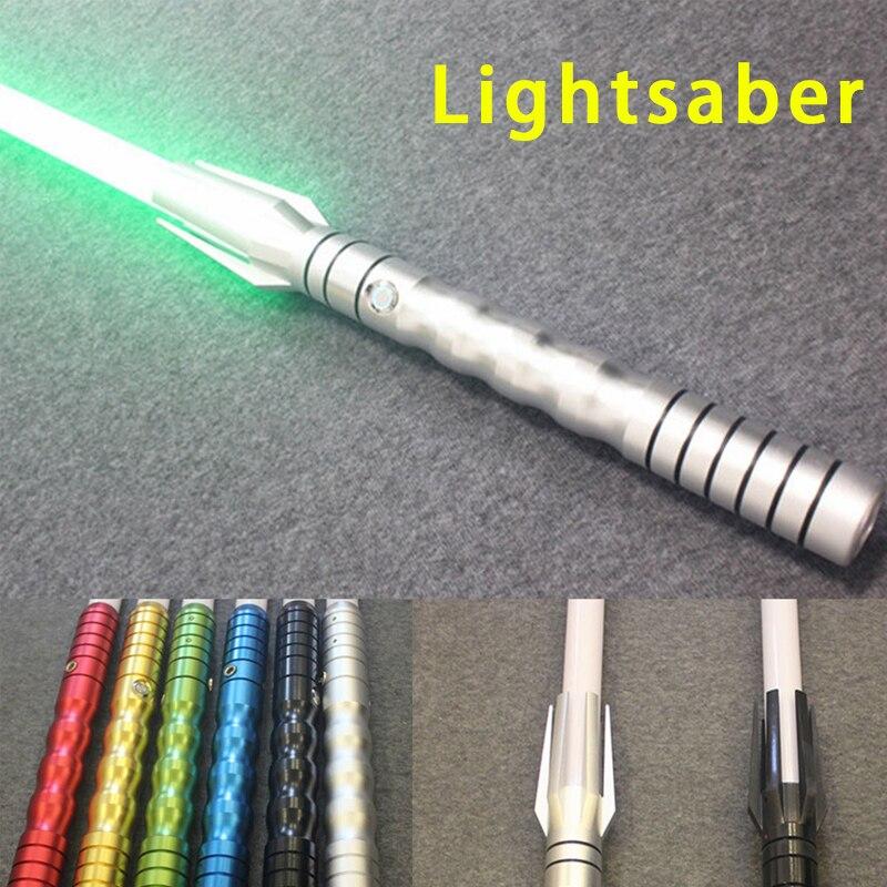 Nueva 8 tipos 1 piezas Lightsaber con la luz 100 cm longitud Cosplay espada aleación Material Light Saber juguete colección regalo de los niños