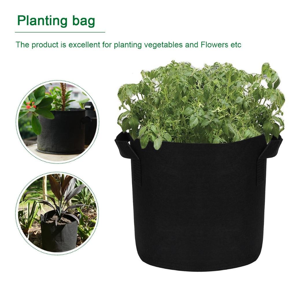 2/3/5/7/10/15/20 Gallon Outdoor Indoor Garden Planting Bags Vegetable Planting Bags Grow Bags Farm Home Garden Supplies Black