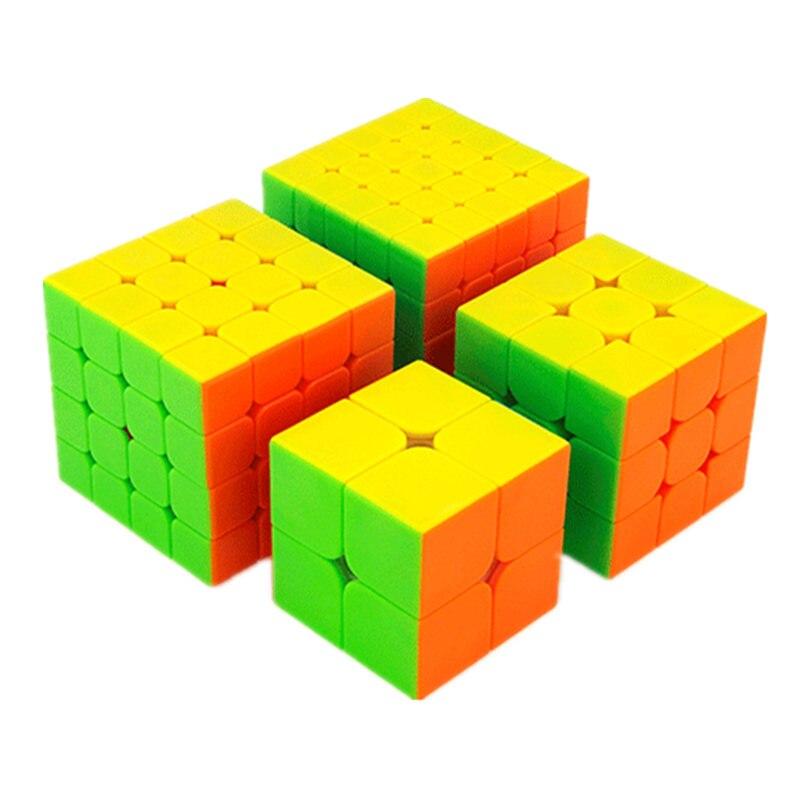 Moyu MofangJiaoshi 2x2 3x3 4x4 5x5 Competição Cubo Mágico Conjunto 4pcs cubing Velocidade Cubes Puzzles Brinquedos Para As Crianças Em Sala de Aula