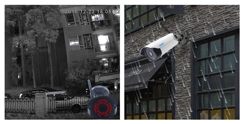 Smar Wifi Outdoor IP camera 960P 720P Waterproof 1.31.0MP Wireless Security Camera Two Way Audio TF Card Record P2P ONVIF (5)