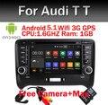 Android 5.1! Quad Core 7 Дюймов В Тире Автомобиля Dvd-плеер Мультимедиа Для Audi TT 2006-2012 С Canbus Wi-Fi GPS BT Радио Свободная Карта