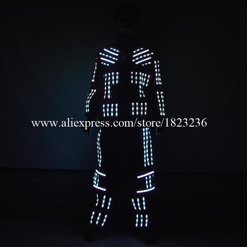 파티 KTV 나이트 클럽에 대 한 최신 Led 화려한 빛의 화려한 의상 볼룸 의류 무대 성능 소품