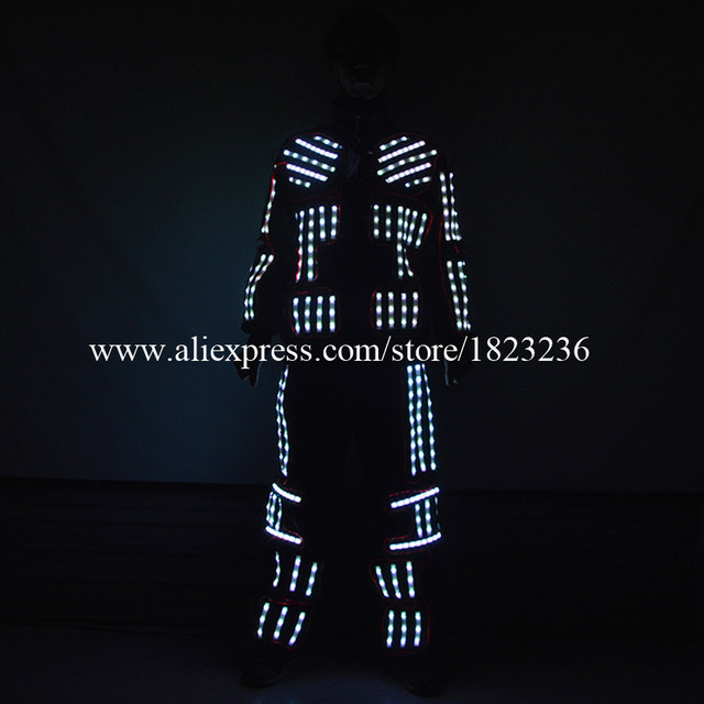 Newest Led Luminous Colorful Men's Costume Ballroom Clothes Stage Performance  Props For Party  KTV Nightclub