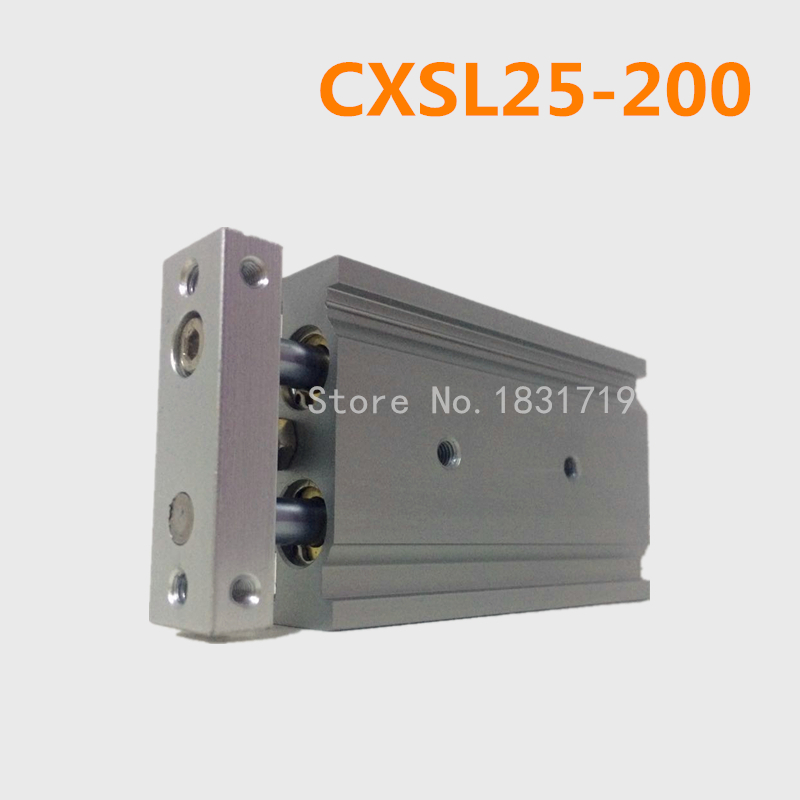 CXSL25-200 Duplex double bar cylinder ball bearings Pneumatic components CXSL25X200