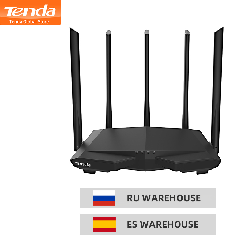 Tenda AC7 1200Mbps Wireless WiFi Router with 5*6dBi High Gain Antenna Home Coverage Dual Band Wifi Repeater,28nm Chip/APP Manage Платье