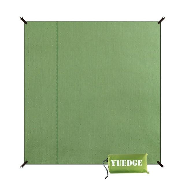 YUEDGE Brand Waterproof Camping Tent Tarp Footprint Groundsheet Picnic Mat Sand Free Beach Mat Sunshade