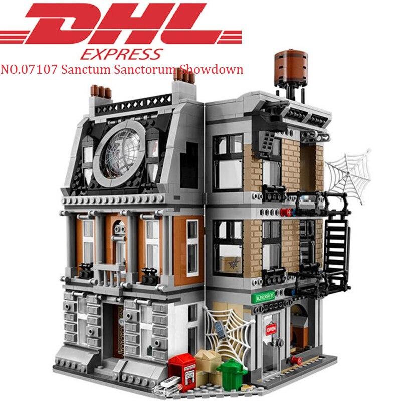 DHL Lepin 07107 1125Pcs Super Hero Avengers Infinity War Thanos Set Sanctum Sanctorum Showdown 76108 Building Blocks Bricks Toys цена