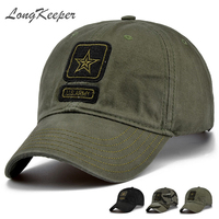 LongKeeper Fashion Camcouflage Sport Baseball Cap Unisex Tactical Casual Hip Hop Hats Military Caps Adjustable Size
