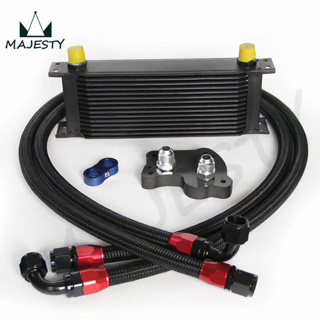 15 Row Oil Cooler Kit For Bmw Mini Cooper S Engine Supercharger R53