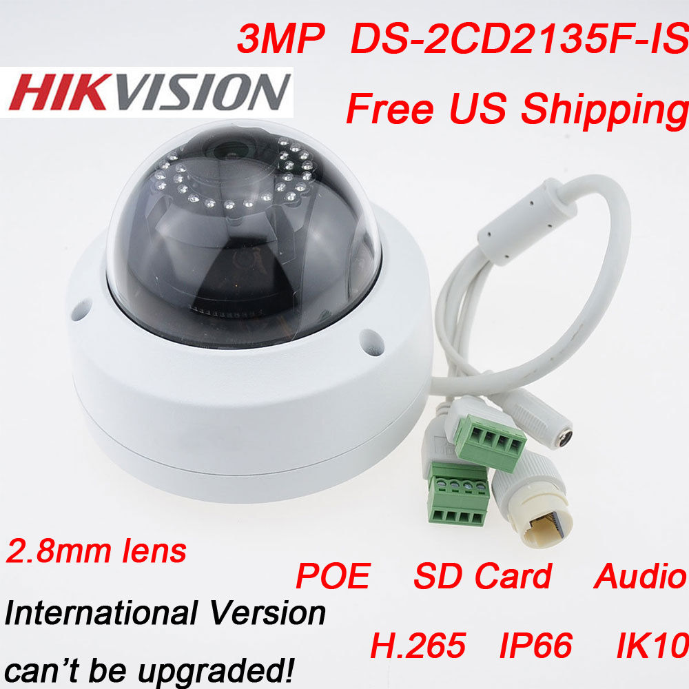 New Models v5 3 6 IP Camera DS 2CD2135F IS 2 8mm 3MP HD1080P Network Dome