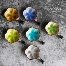NIMITIME Japanese Ice Cracked Glaze Ceramic Sauce Dish Seasoning Snack Oil Vinegar Dumpling