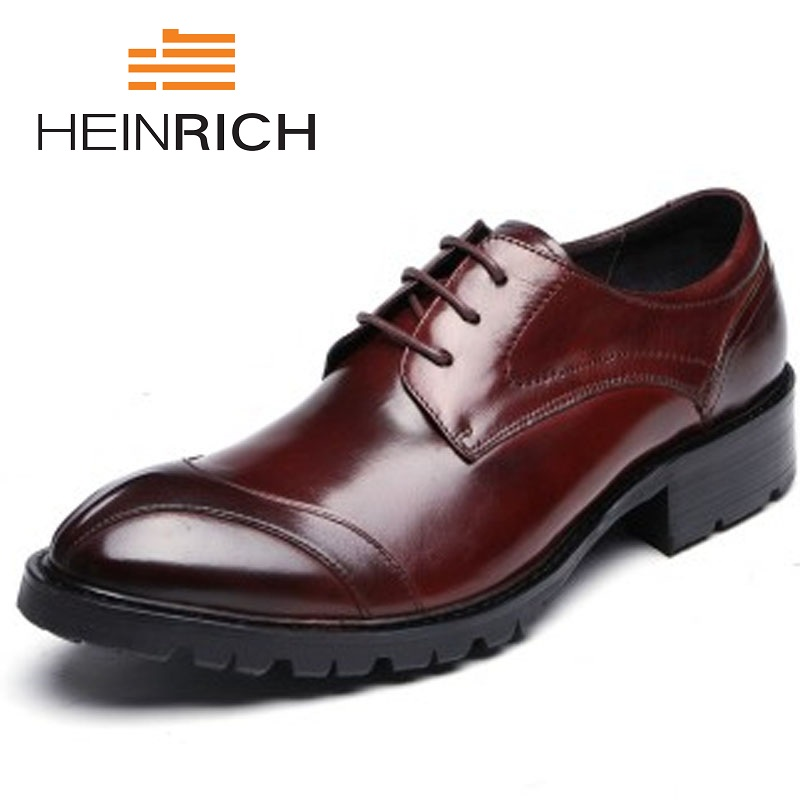 HEINRICH New Fashion Men Shoes Genuine Leather Men Dress Shoes High Quality Comfortable Business Shoes Man Herren SchuheHEINRICH New Fashion Men Shoes Genuine Leather Men Dress Shoes High Quality Comfortable Business Shoes Man Herren Schuhe