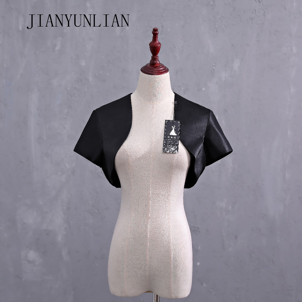 Soft Satin Bolero Shrug Jacket Stole Wrap Shawl Tippet Short Sleeves Custom Made Wedding Bolero For Women