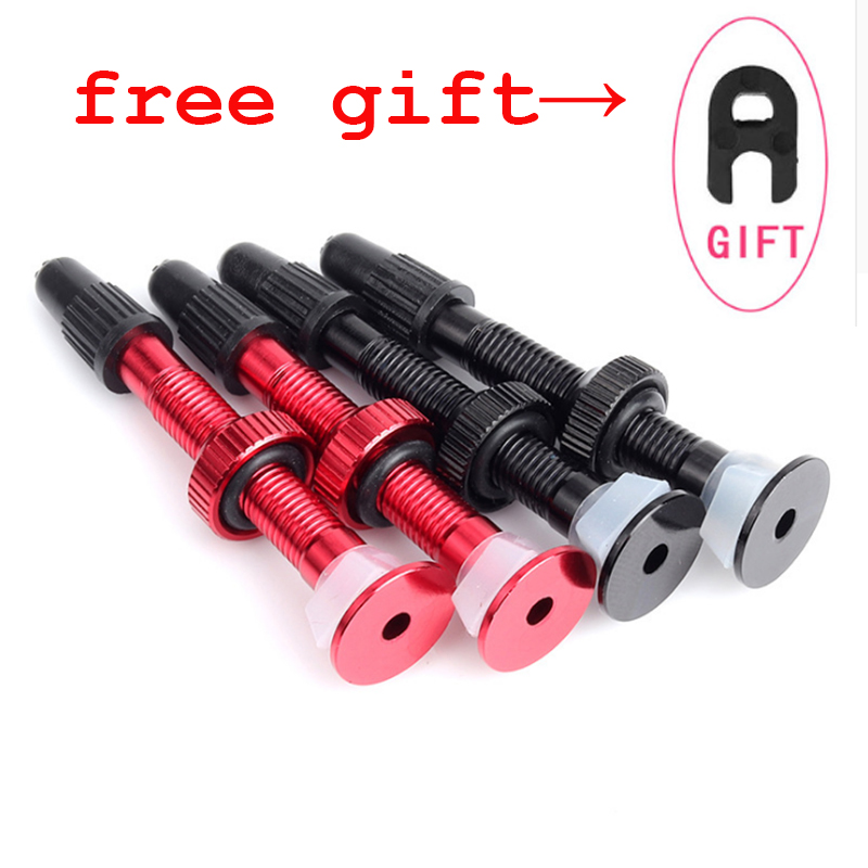 35//44 mm Brass Black Bicycle tubeless valve 2 pcs for Alloy RIMs