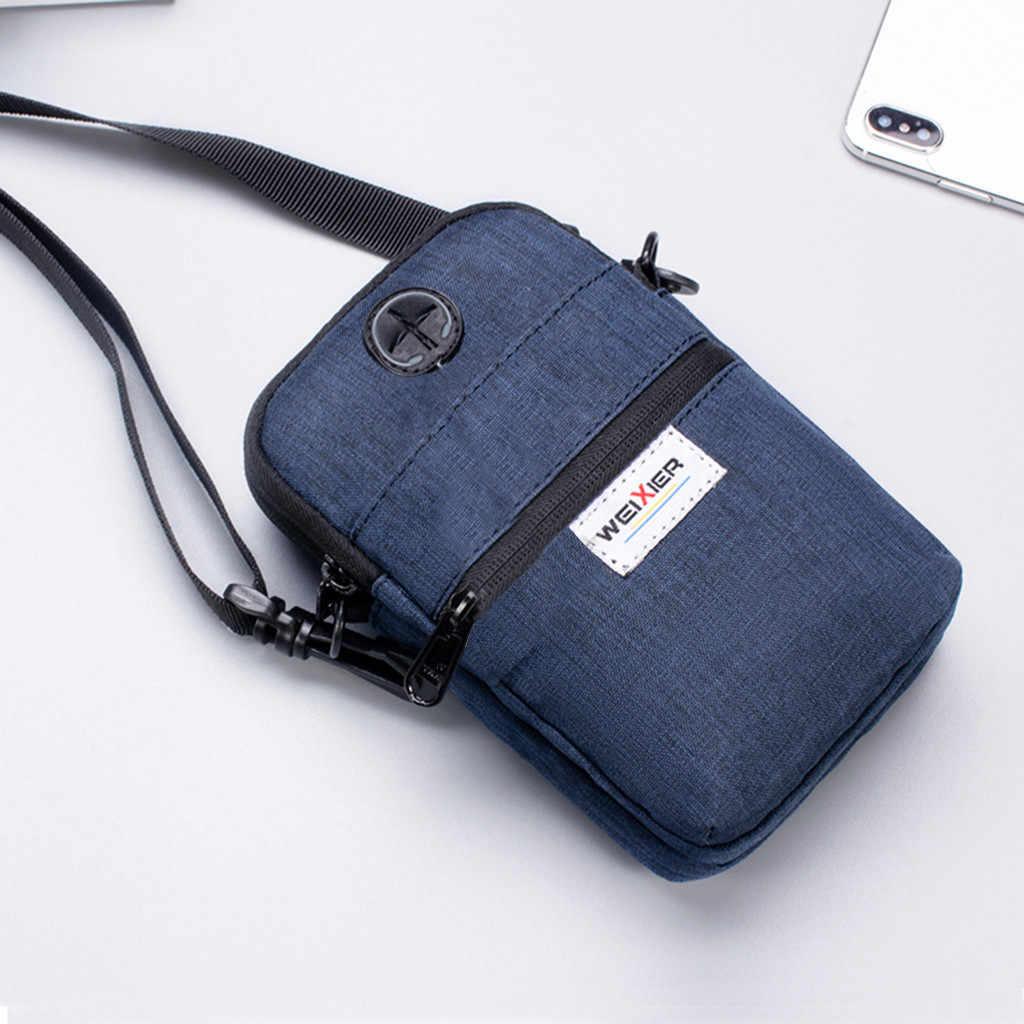 斜めミニショルダーバッグ多機能携帯電話の袋アウトドアスポーツのための男性 sacoche オム #15