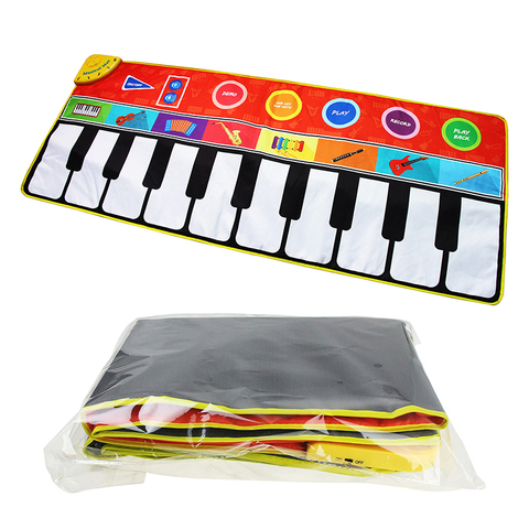 instrumentos de musica jogando tapete musical brinquedo