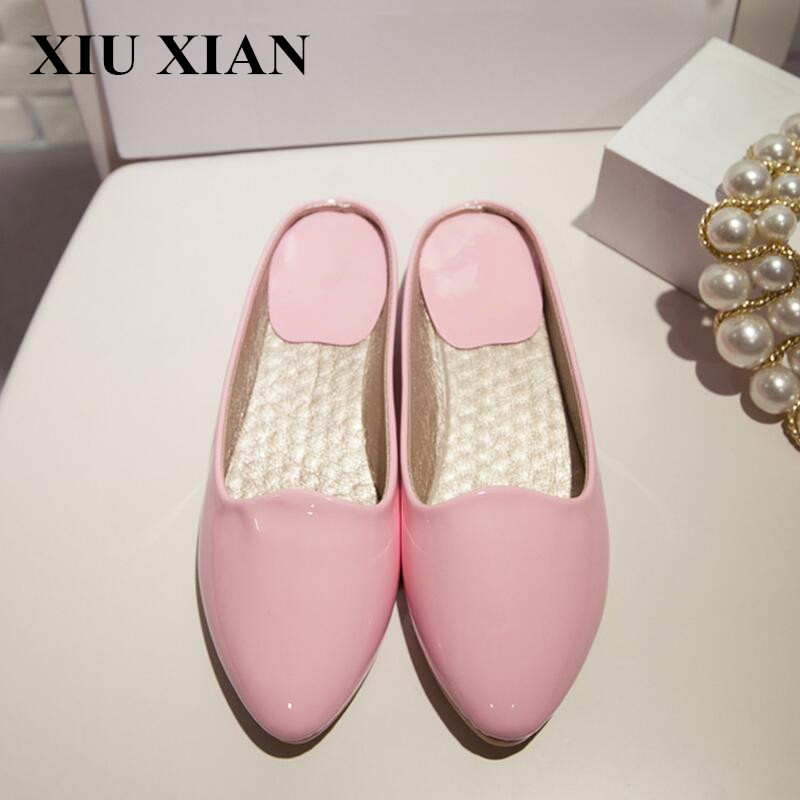Fashion Korean Spring Women Flats 2017 Pointed Toe Soft Ladies Flats Low Heel Slingback Flats Shoes Breathable Loafers Shoe Pink new 2017 spring summer women shoes pointed toe high quality brand fashion womens flats ladies plus size 41 sweet flock t179