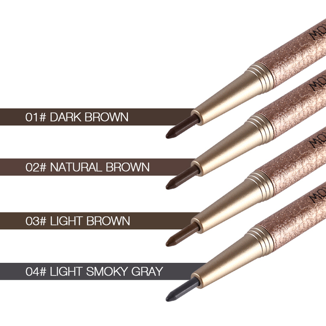 1 Set=3pcs NOVO 4 Colors New Eyebrow Pencil Makeup Set With 3pcs pencil+3pcs Eye Brows Template Waterproof Long Lasting Make Up 1