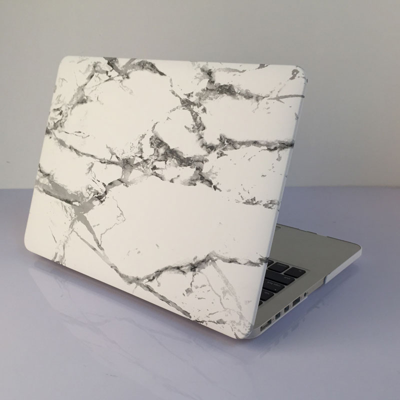 White Marble Grain Hard Cover Case For Macbook Air Pro Retina 11 12