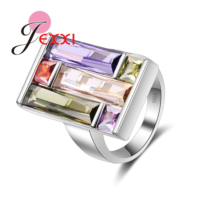 Jemmin S90 Silver Color Bridal Wedding Accessories Long Square Pendant Ring for Women Bridal Wedding Accessories BijouxJemmin S90 Silver Color Bridal Wedding Accessories Long Square Pendant Ring for Women Bridal Wedding Accessories Bijoux