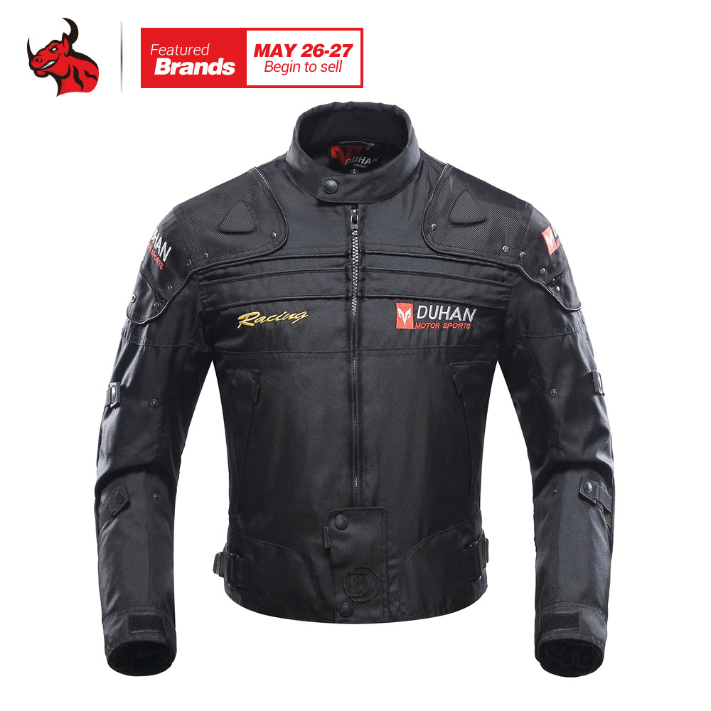 DUHAN Motorcycle Jacket Motorbike Riding Jacket Windproof Motorcycle Full Body Protective Gear Armor Autumn Winter Moto Clothing duhan men s motorcycle jeans motorbike riding biker trousers denim motorcycle pants men moto pants knee guards protective gear