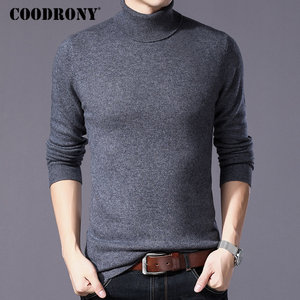 Image 1 - COODRONY Pure Merino Wool Sweater Men Winter Thick Warm Turtleneck Mens Sweaters Cashmere Pullover Men Christmas Pull Homme W004