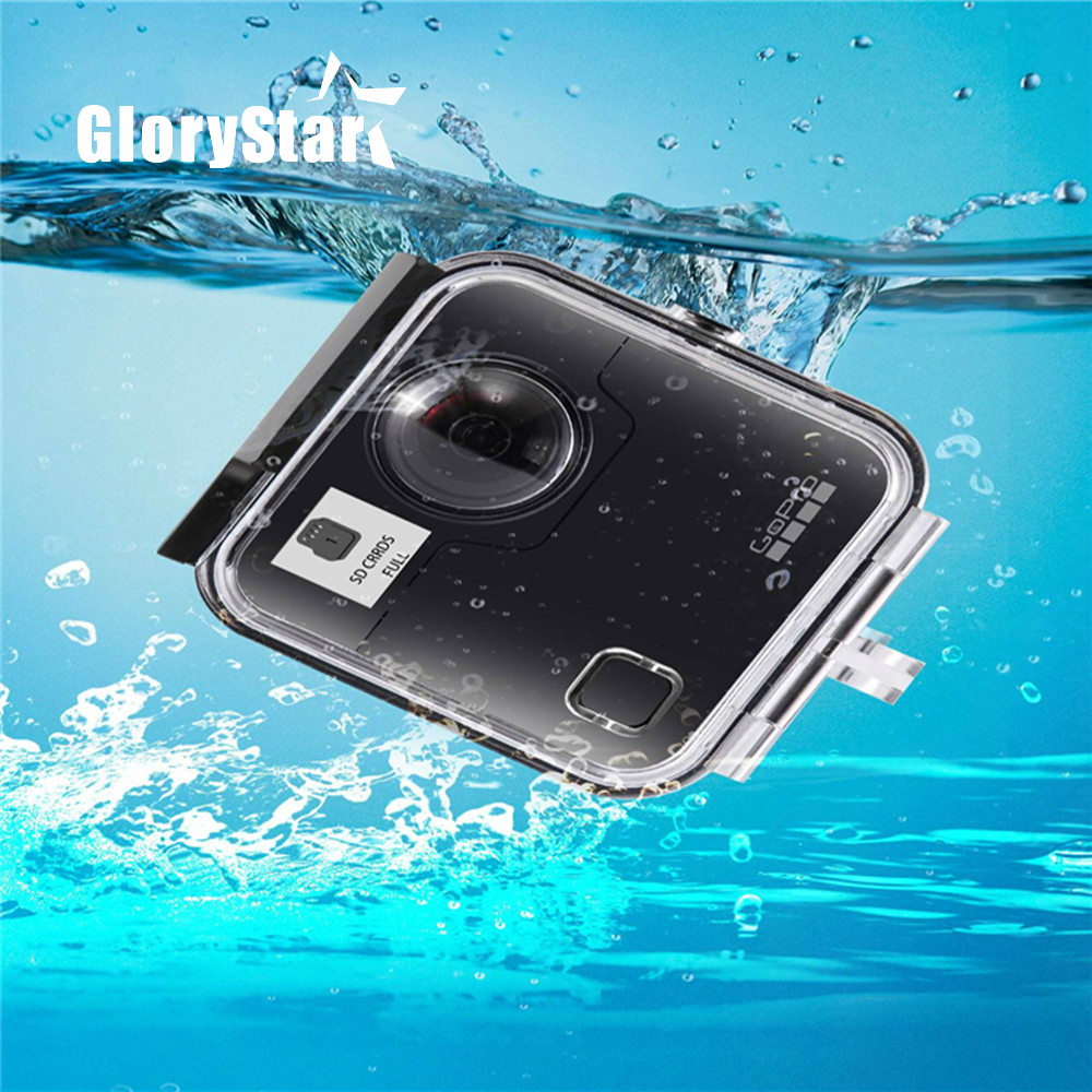 40M Waterproof Housing Case Back Door For Gopro Fusion 360 Camera Underwater Box For Go Pro Fusion Action Camera Accessories meikon 40m wp dc44 waterproof underwater housing case 40m 130ft for canon g1x camera 18 as wp dc44