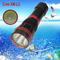 Cycling Bicycle Bike Front Head Light Flashlight 5 Mode XM L2 LED Scuba Diving Underwater 100M Waterproof Outdoor Sport Tool M20