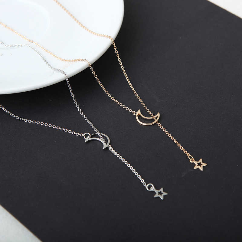 Tiny Heart Necklace for Women Short Chain Heart Star Pendant Gold Necklace Gift Ethnic Bohemian Choker Necklace