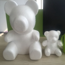 1 pcs  Modelling Polystyrene Styrofoam Foam bear White Craft Balls For DIY Valentines Day Party Decoration Supplies Gifts