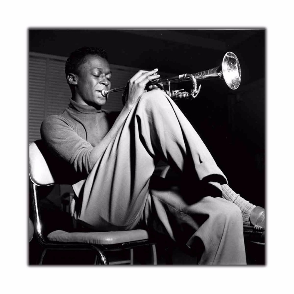 Miles Davis Kind Of Blue Jazz Music Classic Album 12x12 24x24 27x27 Art silk Poster Wall Canvas Print Modern Decoration painting image