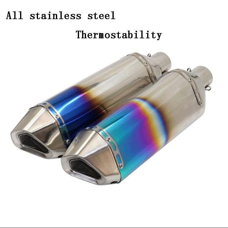 Universal 51mm yoshimura stainless steel Motorcycle Muffler Moto Exhaust pipe YZFR1 R6 YZF600 FZ400 CF150 CF250 GSXR750 GSXR600