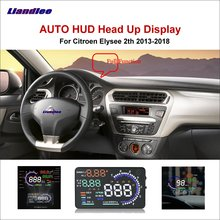 Liandlee Car HUD Head Up Display For Citroen C1 C2 C3 C4 C5 2011-2018 Safe Driving Screen Full Function OBD Projector Windshield цена и фото