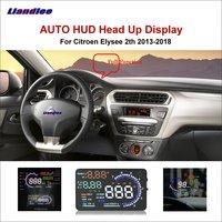 Liandlee carro hud cabeça up display para citroen c1 c2 c3 c4 c5 2011-2018 seguro de condução da tela função completa obd projetor brisa