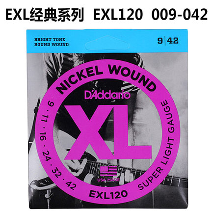 DAddario Electric Guitar Strings EXL Nickel Wound EXL110 EXL115 EXL120 EXL125 EXL130 EXL140 Daddario