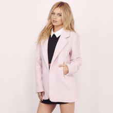 White Pink/Navy Blue Women Wool Coat Ladies Woolen Coat Preppy Style Slim Woolen Coats for Womens Winter Outerwear XXL