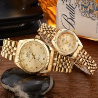 CHENXI Golden New Clock Gold Fashion Women Watch Full Gold Stainless Steel Quartz Watches Wholesale Women