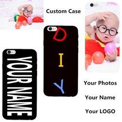 Personnalisé bricolage nom Photo couverture personnalisée pour Samsung Galaxy Note 5 4 3 2 1 S3 S5 Neo pour Iphone 6 S imprimé téléphone Coque arrière Coque