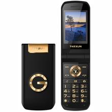 TKEXUN G9000 Slim Clamshell Mobile Phone For Old Senior People Flip Russian Key