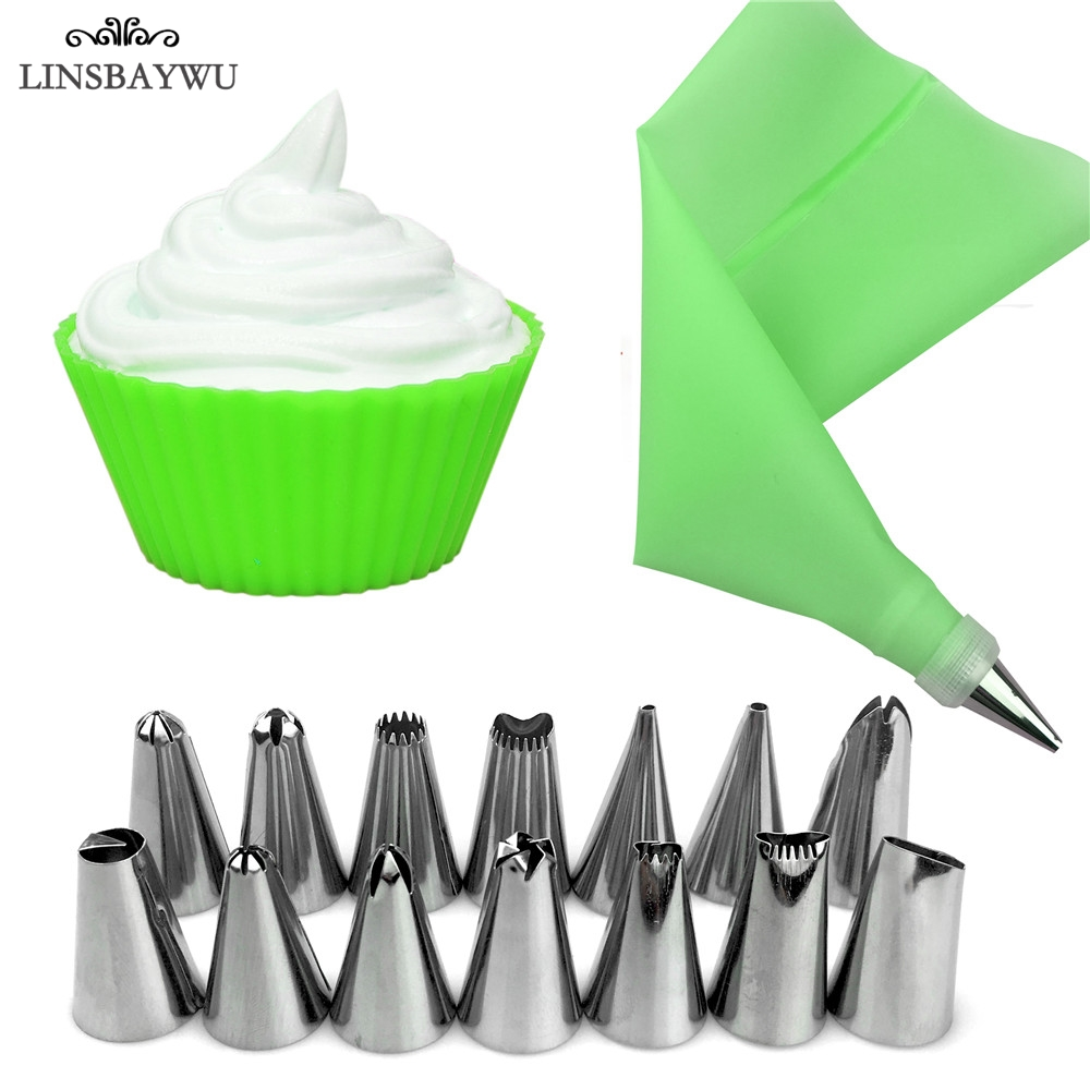 Useful Silicone Cake Piping Utensil Cream Icing Pastry Piping Pen Baking Tool/&