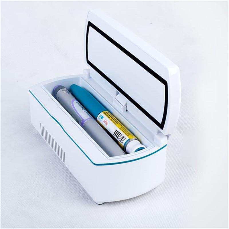 Insuline Fridge Auto Mini Refrigerator Portable Voyage L'insuline Storage Box.L'insulie Cooler Bag.Interferon Pen Storage Fridge