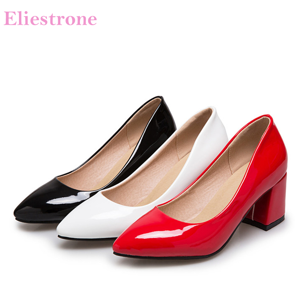 Brand New Hot Soft Red Black Women Nude Formal Pumps Fashion High Heels Lady Bridal -2813