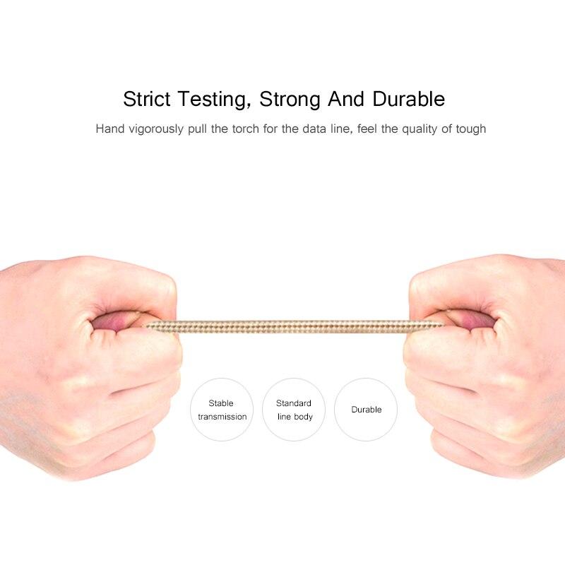 FERISING Cable de enchufe de metal Cable de datos USB de nylon 2A - Accesorios y repuestos para celulares - foto 4