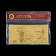 Billets de banque d'espagne en or à collectionner, 100 Pesetas, cadeau de décoration pour la maison