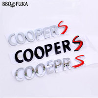 BBQ FUKA New 3 Coulor Availble 3D Metal Alloy COOPER S Back Car Emblem Badge Car